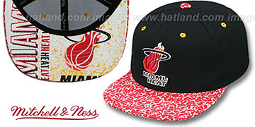 Heat 'IN-THE-STANDS SNAPBACK' Black Hat by Mitchell & Ness