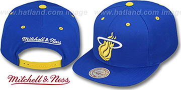 Heat 'LANEY SNAPBACK' Royal Adjustable Hat by Mitchell & Ness