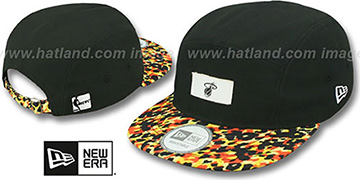 Heat LEOPARD CAMPER STRAPBACK Black Hat by New Era