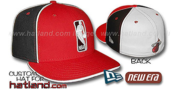 Heat 'LOGOMAN-2' Red-Black-White Fitted Hat by New Era