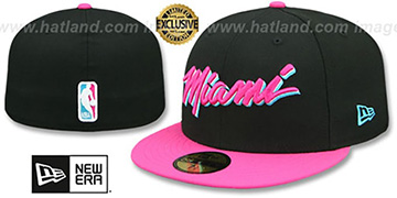 Heat MIAMI VICE Black-Beetroot Fitted Hat by New Era