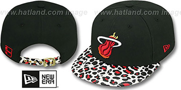 Heat OSTRICH-LEOPARD STRAPBACK Hat by New Era