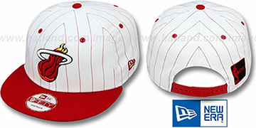 Heat 'PINSTRIPE BITD SNAPBACK' White-Red Hat by New Era
