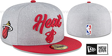 Heat ROPE STITCH DRAFT Grey-Red Fitted Hat by New Era