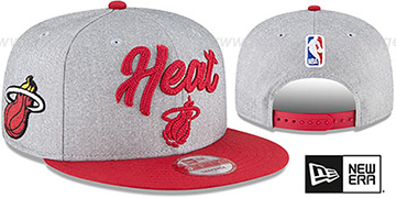 Heat ROPE STITCH DRAFT SNAPBACK Grey-Red Hat by New Era