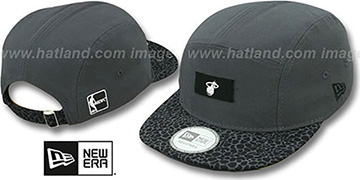 Heat 'SAFARI CAMPER STRAPBACK' Grey Hat by New Era