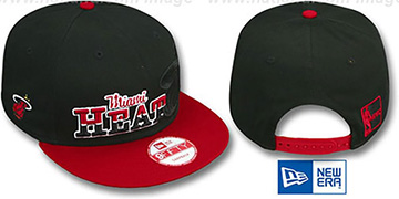 Heat SPLIT-BLOCK SNAPBACK Black-Red Hat by New Era