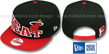 Heat 'STOKED SNAPBACK' Black-Red Hat by New Era