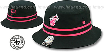 Heat 'STRIPED BUCKET' Black Hat by Twins 47 Brand