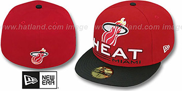Heat TECH MARK Red-Black Fitted Hat by New Era