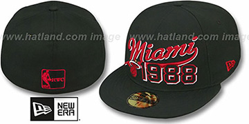 Heat 'THE BEGINNING' Black Fitted Hat by New Era