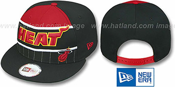 Heat 'WARM-UP SNAPBACK' Black-Red Hat by New Era