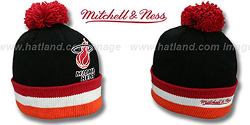 Heat 'XL-LOGO BEANIE' Black by Mitchell and Ness
