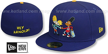 Hey Arnold 'THUMBS UP' Royal Fitted Hat by New Era