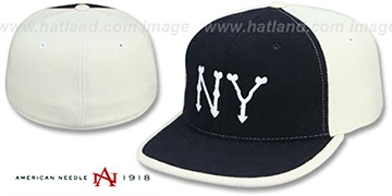 Highlanders 1903 MELTON Navy-White Fitted Hat by American Needle