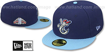 Hooks PERFORMANCE HOME Navy-Sky Fitted Hat by New Era