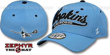 Hopkins SWOOP LACROSSE Sky Fitted Hat by Zephyr