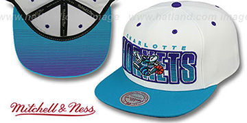 Hornets  'HOMESTAND SNAPBACK' White-Teal Hat by Mitchell & Ness