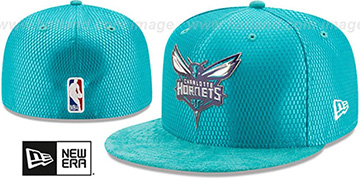 Hornets '2017 ONCOURT DRAFT' Teal Fitted Hat by New Era