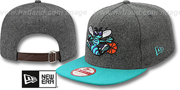 Hornets 2T MELTON A-FRAME STRAPBACK Hat by New Era