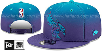 Hornets 'BACK HALF FADE SNAPBACK' Hat by New Era