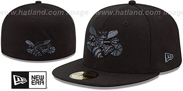 Hornets 'HWC FADEOUT-BASIC' Black Fitted Hat by New Era