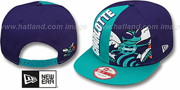 Hornets 'NE-NC DOUBLE COVERAGE SNAPBACK' Hat by New Era