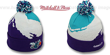 Hornets 'PAINTBRUSH BEANIE' by Mitchell and Ness