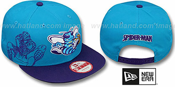 Hornets 'SIDE-TEAM' SPIDERMAN SNAPBACK Hat by New Era