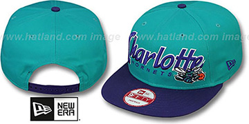 Hornets SNAP-IT-BACK SNAPBACK Teal-Purple Hat by New Era