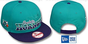 Hornets SPLIT-BLOCK SNAPBACK Teal-Purple Hat by New Era