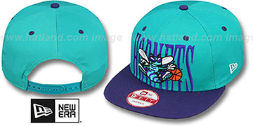 Hornets 'STEP-ABOVE SNAPBACK' Teal-Purple Hat by New Era