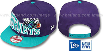 Hornets 'STOKED SNAPBACK' Purple-Teal Hat by New Era