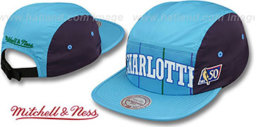 Hornets 'WORDMARK STRAPBACK' Sky Hat by Mitchell & Ness