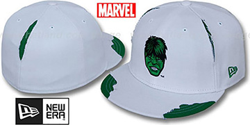 Hulk 'RIPPED' White Fitted Hat by New Era