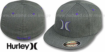 Hurley 'COLOR BAR' FLEXFIT Grey-Purple Hat