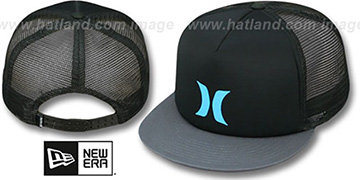 Hurley 'COLOR BLOCK SNAPBACK' Black-Grey Trucker Hat