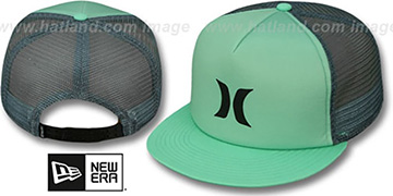 Hurley 'COLOR BLOCK SNAPBACK' Mint-Grey Trucker Hat