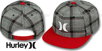 Hurley 'ICON PLAID SNAPBACK' Red Hat