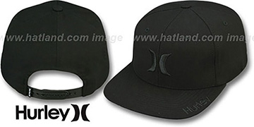 Hurley 'ICON SNAPPER SNAPBACK' Black Hat