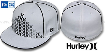 Hurley 'WATERLOO' White Fitted Hat by New Era