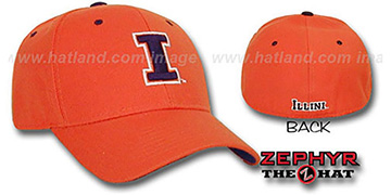 Illinois DH Fitted Hat by ZEPHYR - orange