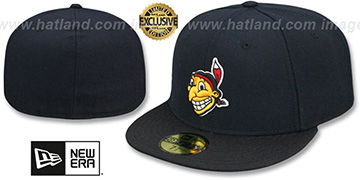 Indians COOPERSTOWN Fitted Navy-Black Hat by New Era