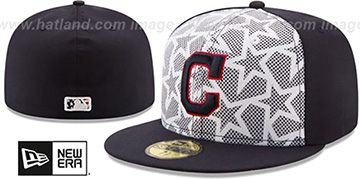 Indians '2016 JULY 4TH STARS N STRIPES' Fitted Hat by New Era
