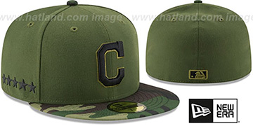Indians 2017 MEMORIAL DAY 'STARS N STRIPES' Hat by New Era