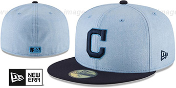 Indians 2018 FATHERS DAY Sky-Navy Fitted Hat by New Era