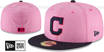 Indians 2018 MOTHERS DAY Pink-Navy Fitted Hat by New Era