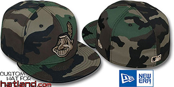 Indians 'ARMY CAMO' Fitted Hat by New Era