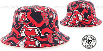 Indians 'BRAVADO BUCKET' Hat by Twins 47 Brand