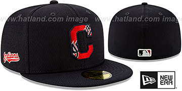 Indians DASHMARK BP Navy Fitted Hat by New Era